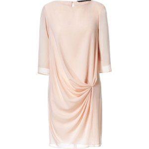 Zara Peach Blush Shift Dress Small S